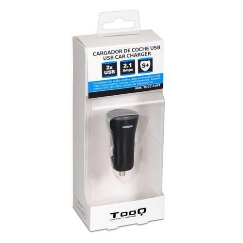 Cargador de Coche 2 x USB TooQ TQCC-1002