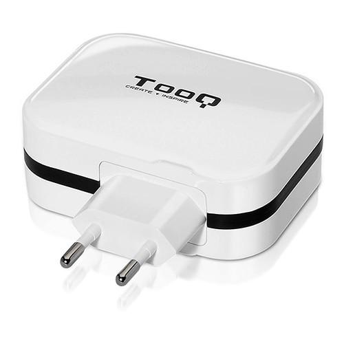 Cargador de Pared 4 x USB TooQ TQWC-1S04WT (6.8A) Blanco