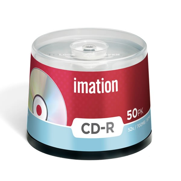 CD-R 52x Imation 700MB/80MIN Tarrina de 50 Uds.