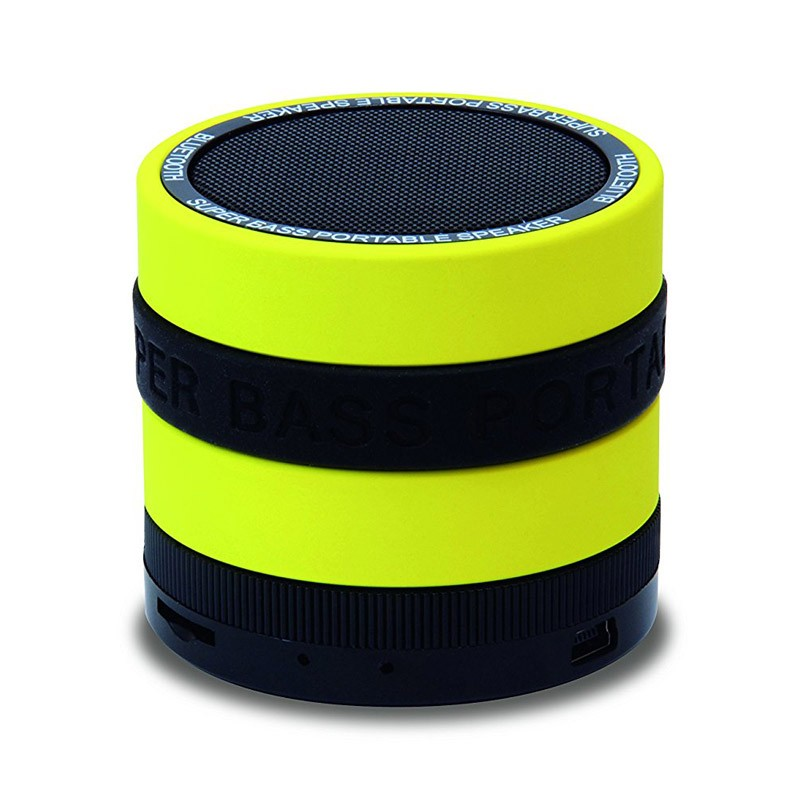Altavoz Bluetooth Conceptronic Bass MP3 Amarillo