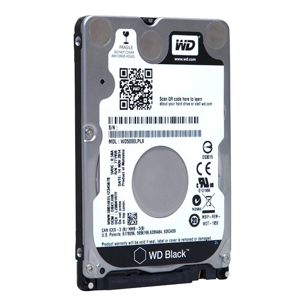 2.5` disco duro 1tb western digital black 32mb 7200rpm 6.0gb/s