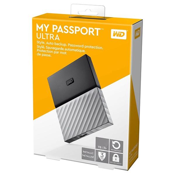 Disco Duro Externo 2TB Western Digital My Passport Ultra Negro/Gris
