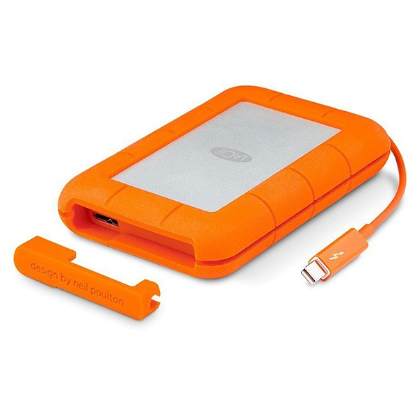 Disco externo portátil 4tb lacie rugged thunderbolt usb tipo c ip54