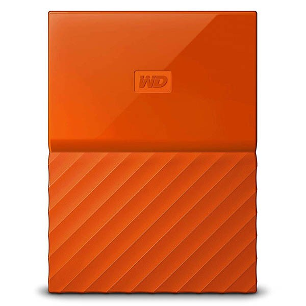 Disco externo 2tb wd my passport worldwide thin naranja
