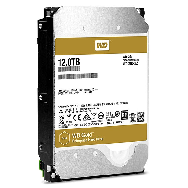 Disco Duro NAS 12TB Western Digital Gold Raid Edition 256MB 7200RPM