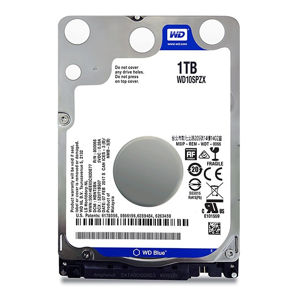 2.5` disco duro 1tb wd blue mobiles series wd10spzx 5400rpm 128mb