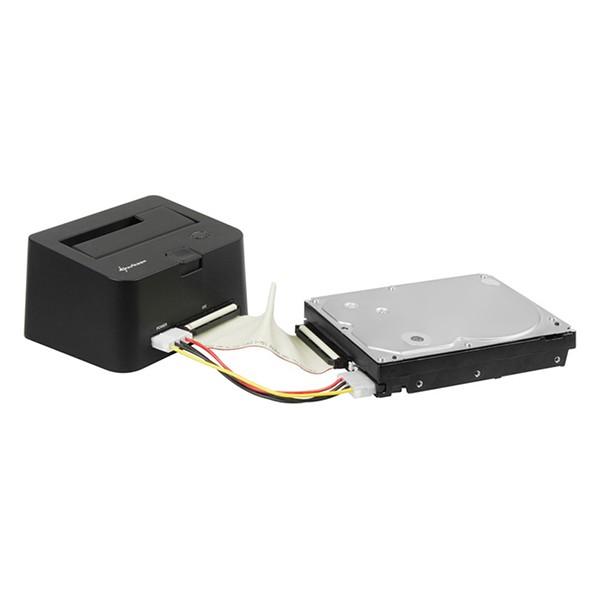Base de Conexión Sharkoon QuickPort Combo USB 3.0 Negro