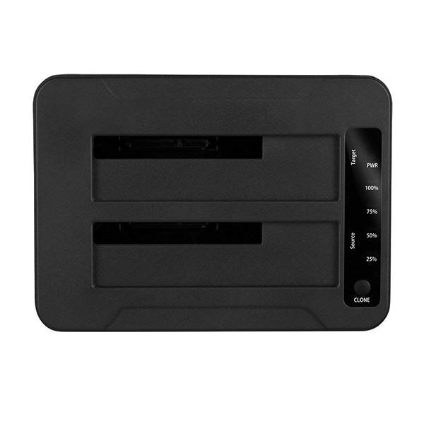 Base de Conexión Sharkoon QuickPort Duo Clone USB 3.1 Type C Negro