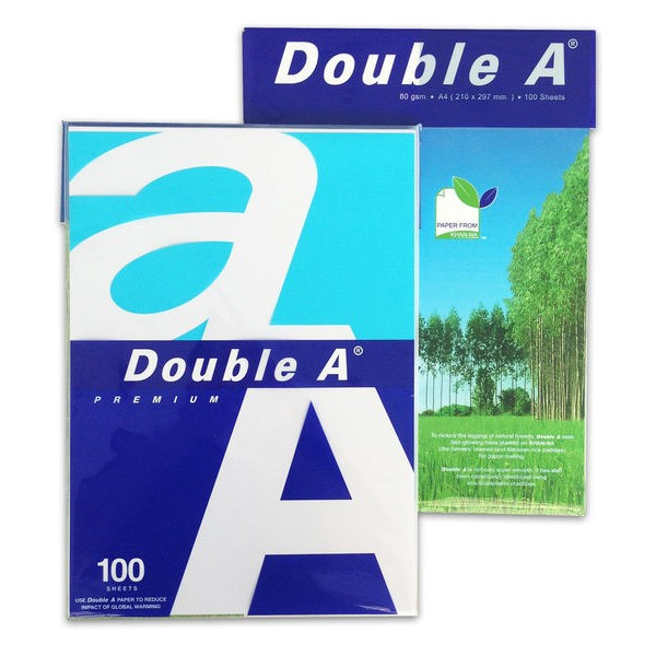 Papel Multifunción Double A Premium DIN A4 80g pack 100 pcs