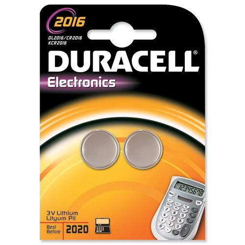 CR2016 3V Pila de Boton de Litio Duracell DL2016B2 (2 uni)