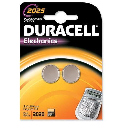 CR2025 3V Pila de Boton de Litio Duracell DL2025B2 (2 uni)