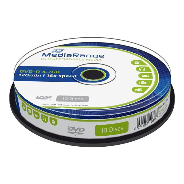 DVD-R 16X MediaRange Tarrina 10 uds