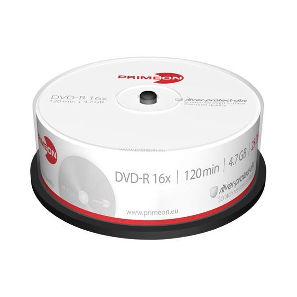 DVD-R 16x PrimeON Silver Tarrina 25 uds