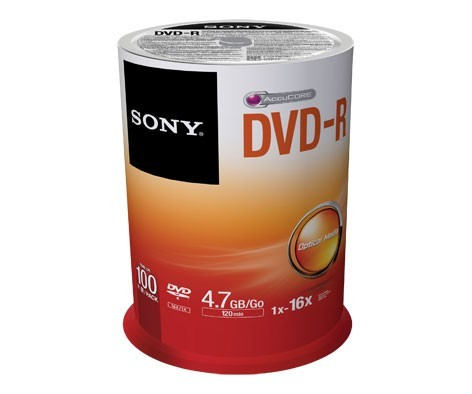 DVD-R 16x SONY 4.7GB Tarrina 100 uds
