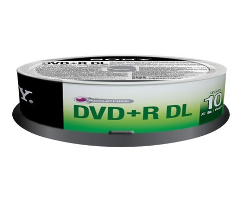 DVD+R Doble Capa 8x SONY Tarrina 10 uds (10DPR85SP)