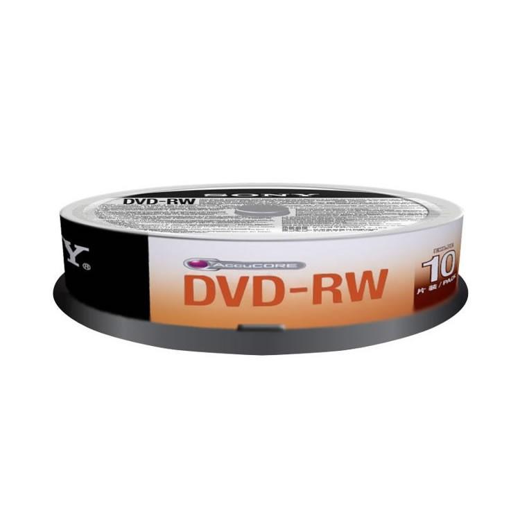 DVD-RW 2x Sony 4.7GB Tarrina de 10 Uds.