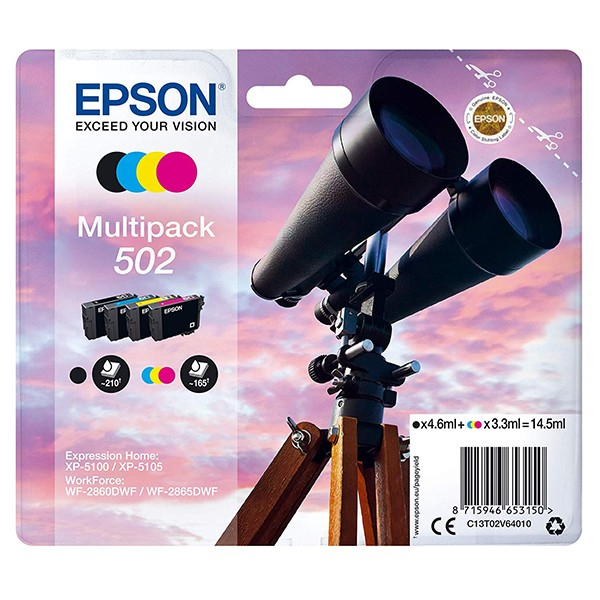 Epson 502 Multipack 4 Colores Tinta Original