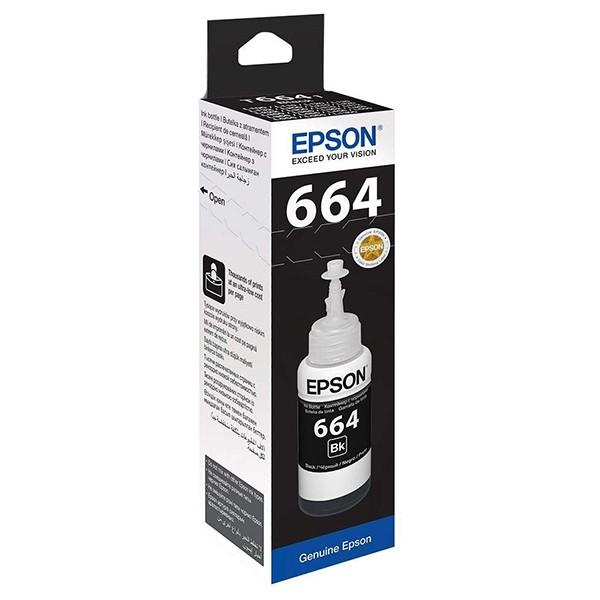 Epson 664 EcoTank Negro Botella Tinta Original (70ml)