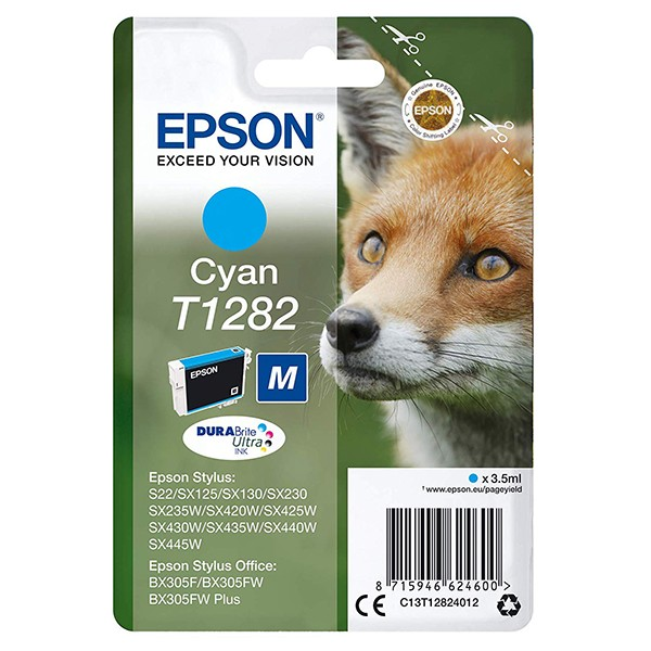 Epson T1282 DURABrite Ultra Ink Cartucho Cyan Tinta Original