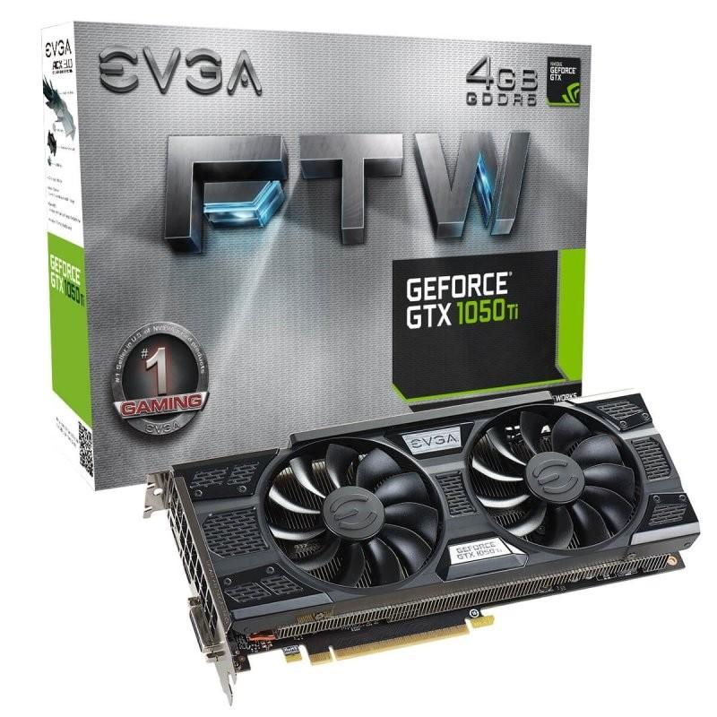 Tarjeta Gráfica EVGA GeForce GTX 1050 Ti FTW ACX3 4GB GDDR5