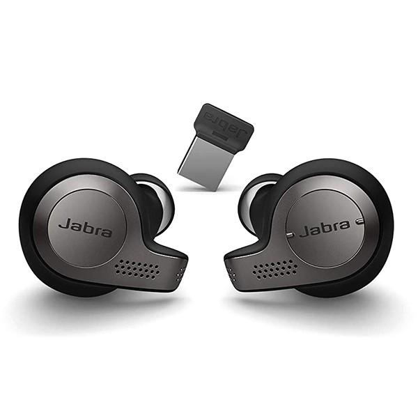 Auriculares Inalámbricos sin Cables Jabra Evolve 65t MS Titanium Black+Link 370