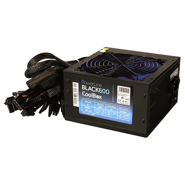 Fuente Alimentación CoolBox PowerLine Black-600 600W
