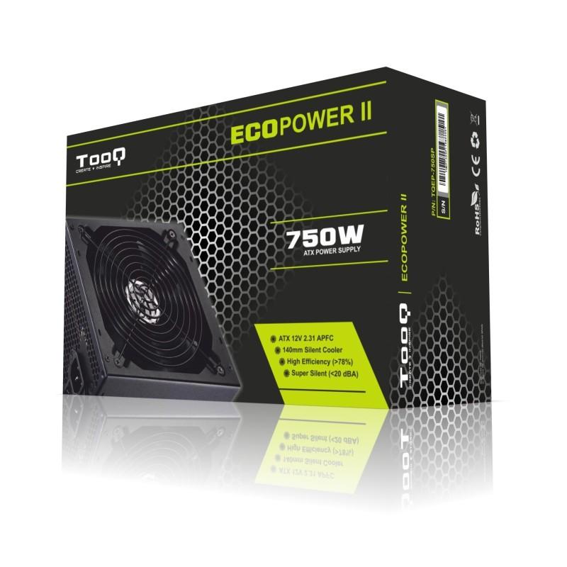 Fuente Alimentación TooQ Ecopower II 750W PFC Activo