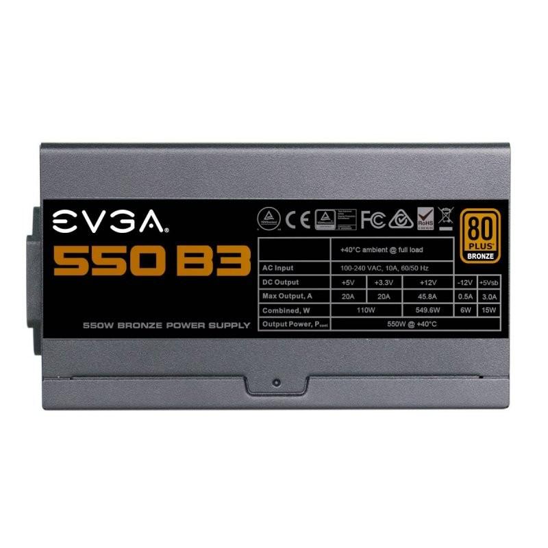 Fuente Alimentación Modular EVGA 550 B3 550W 80 PLUS Bronze