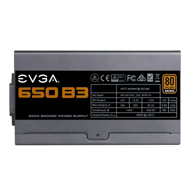 Fuente Alimentación Modular EVGA 650 B3 650W 80 PLUS Bronze