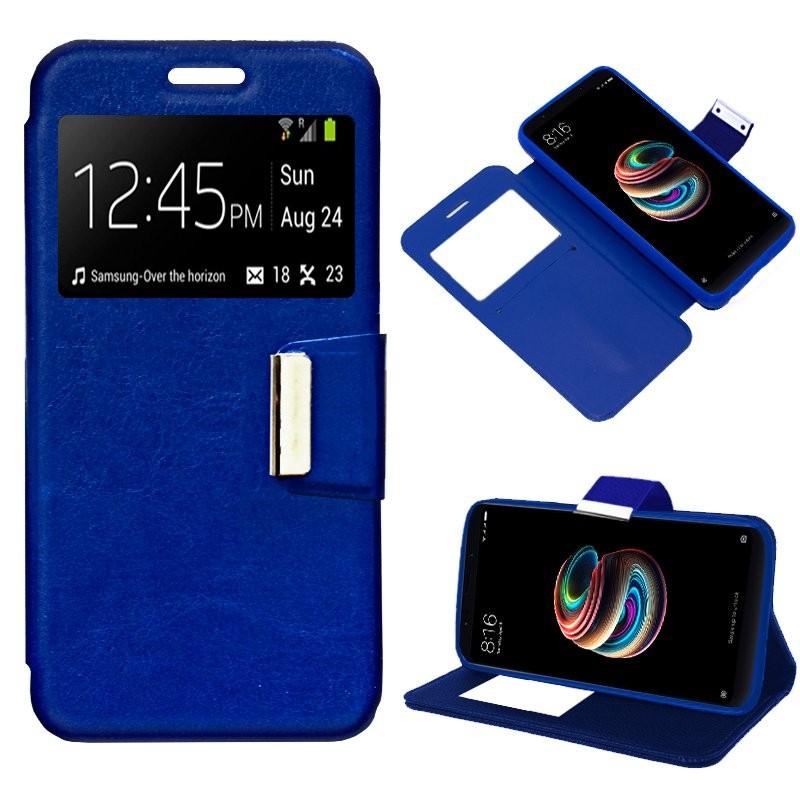 xiaomi-redmi-5-funda-flip-cover-azul