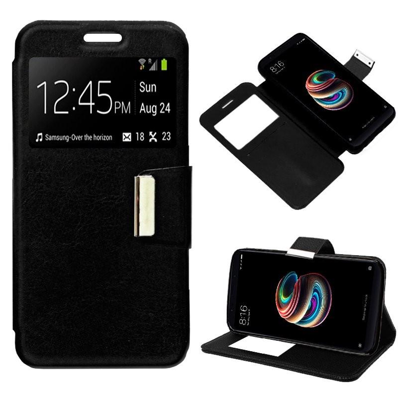 Xiaomi Redmi 5 Plus Funda Flip Cover Negro