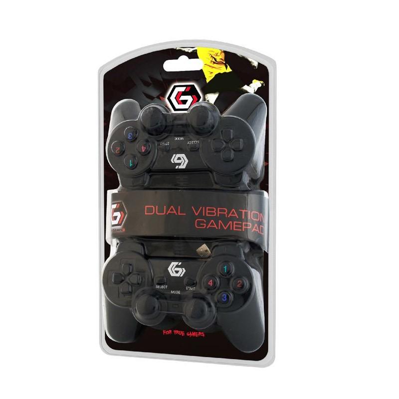 Pack Gamepad USB Gembird JPD-UDV2-01 2uds