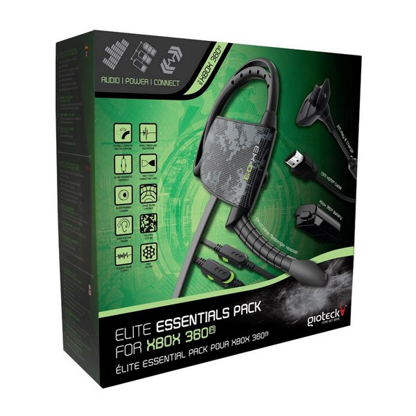 Xbox 360 Gioteck Elite Kit Negro