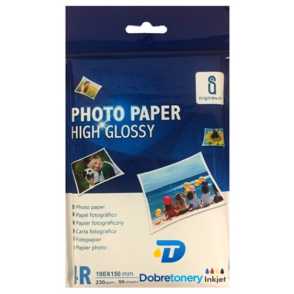 Papel Foto Glossy 230 G/m2 Pack 50 uds 4R (150 x 100mm)