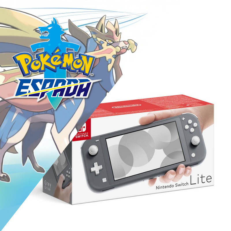Nintendo Switch Lite Gris + Pokemon Espada