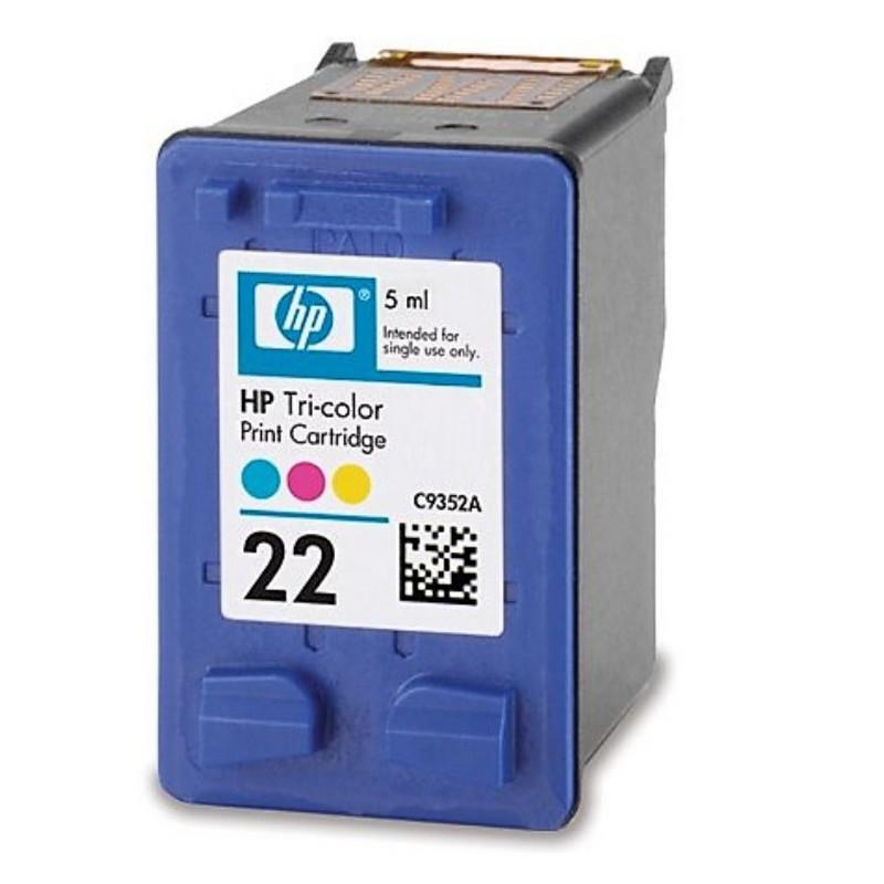 HP 22C Cartucho de Tinta Original Tricolor
