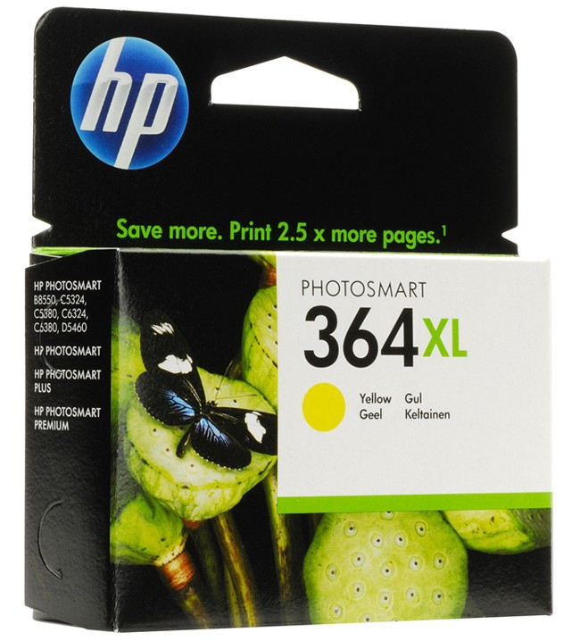 HP 364Y XL Cartucho de Tinta Original Amarillo