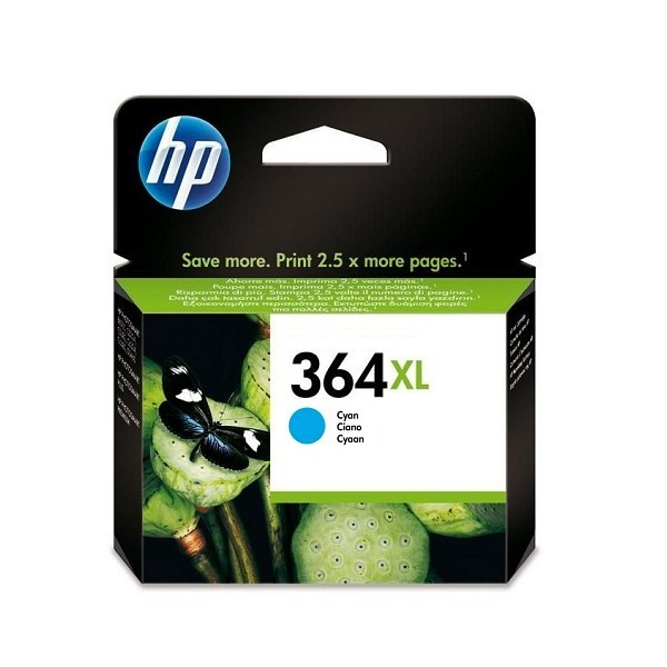 HP 364C XL Cartucho de Tinta Original Cian
