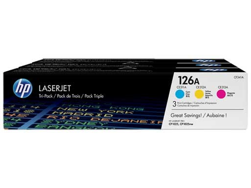 HP 126A (CF341A) Toner Original Pack Tricolor