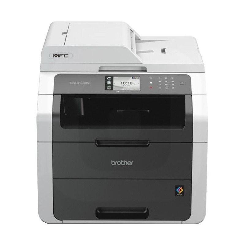 Impresora láser led color brother mfc-9140cdn usb/red