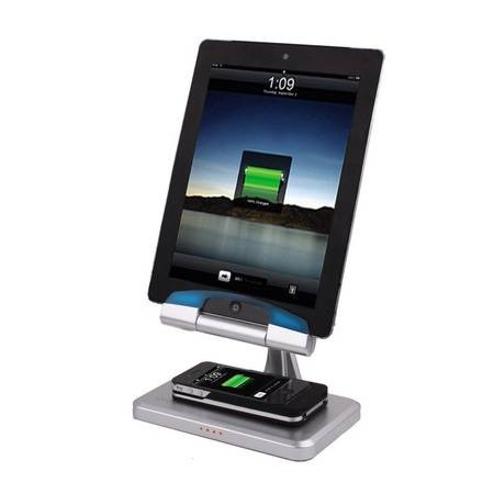 Base de Carga Dock para iPad y Cargador Induccion iPhone 4