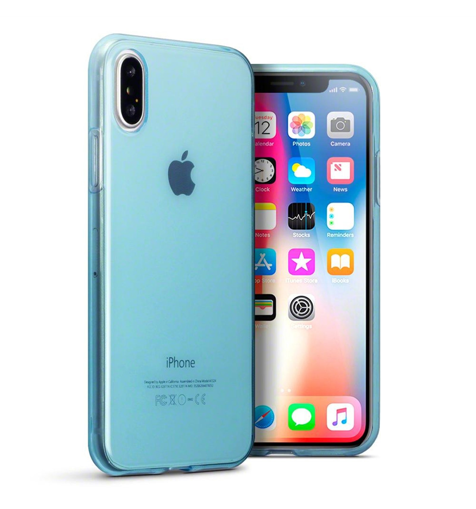 iphone-x-funda-silicona-azul