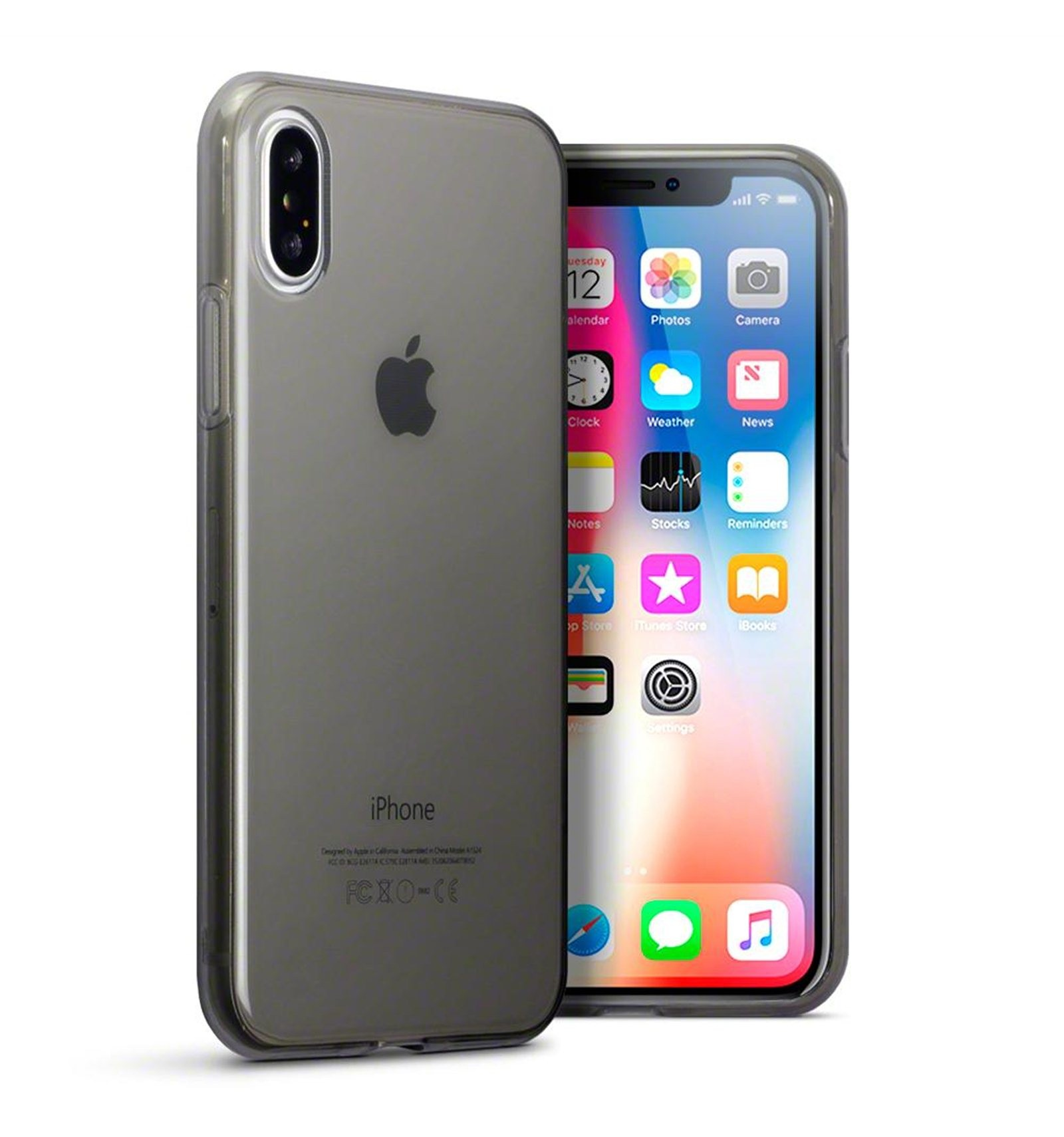 Iphone x funda silicona negro - Fundas iphone silicona ...