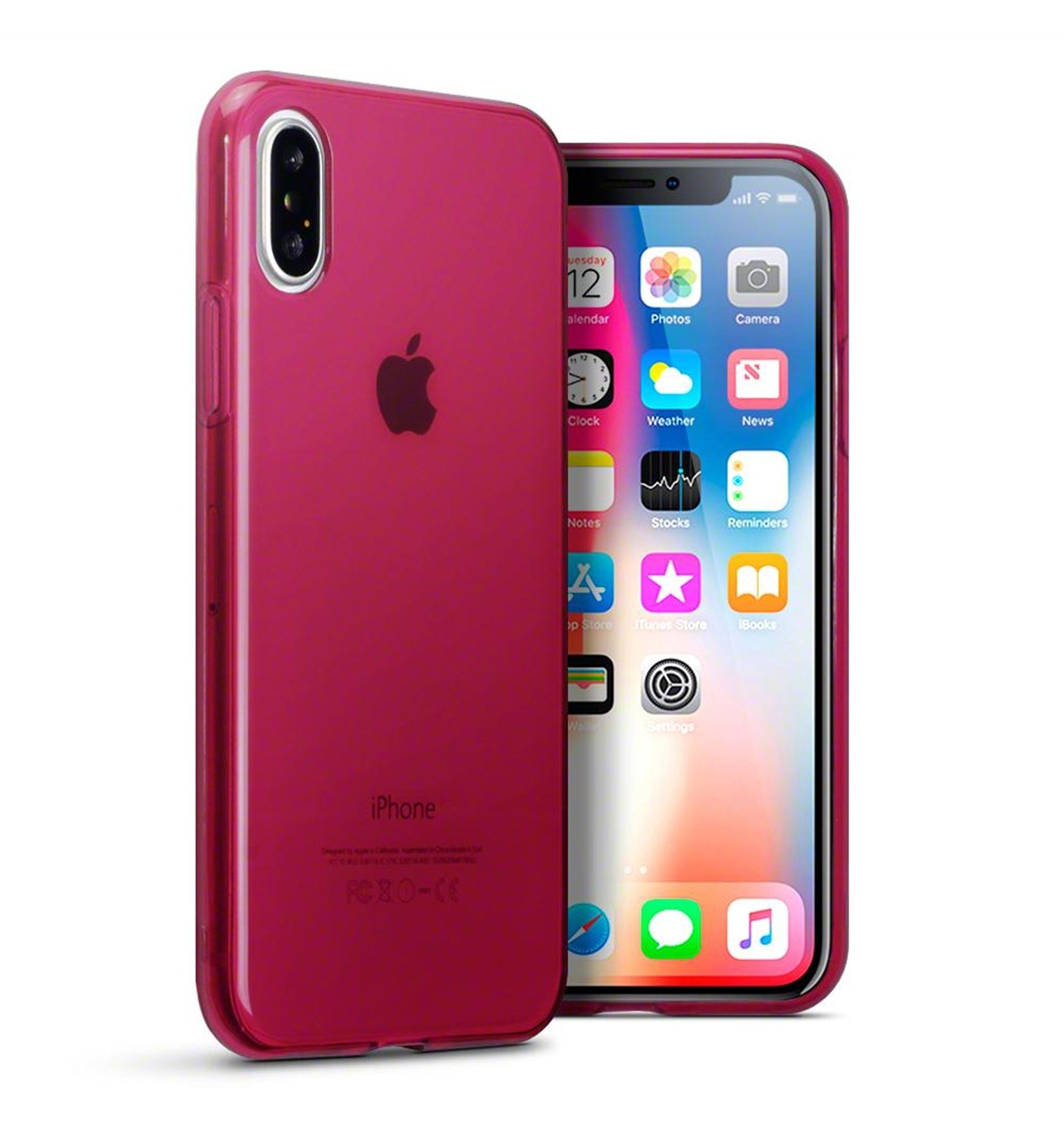 iphone-x-funda-silicona-rojo