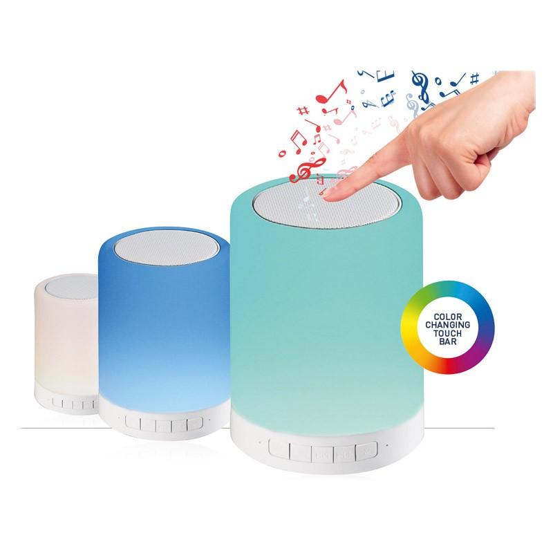 Lampara tactil multicolor con altavoz bluetooth platinet for Lampara altavoz bluetooth