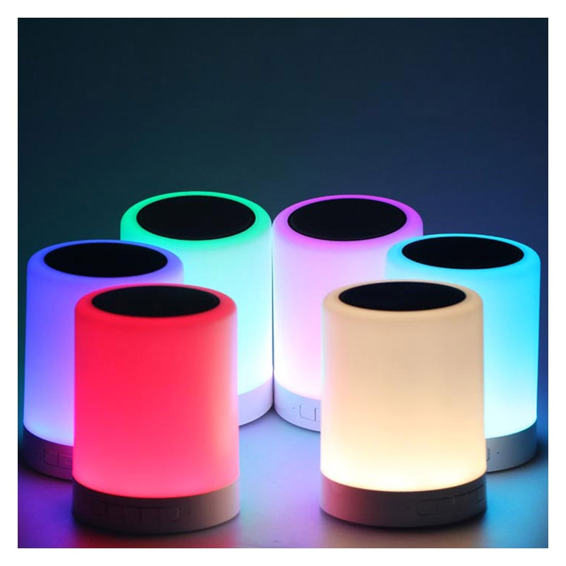 Lampara Tactil Multicolor con Altavoz Bluetooth Platinet PDLSB01