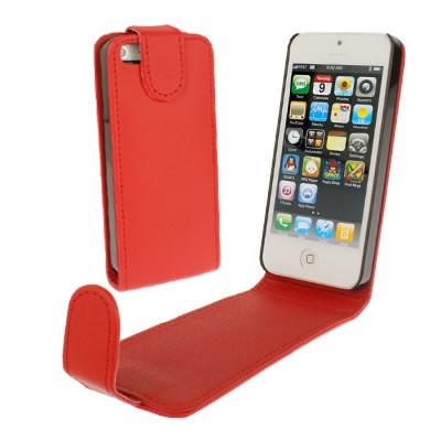 iphone-5-estuche-de-cuero-rojo