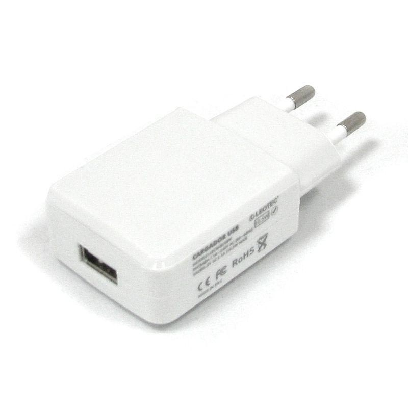 Cargador USB de Pared Leotec LECTABUSB Blanco