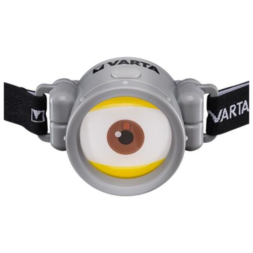 Linterna Frontal Minions Varta (Pila 1AAA Incluida)