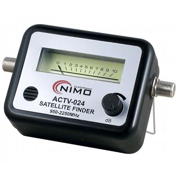 Localizador de satélites vu-meter